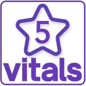5 Stars on Vitals