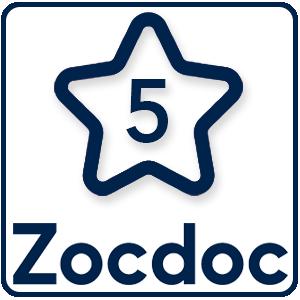 5 Stars on ZocDoc
